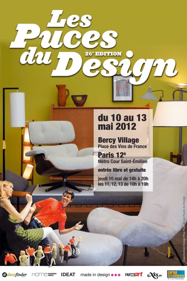 les puces du design du 10 au 13 mai 2012 paris the. Black Bedroom Furniture Sets. Home Design Ideas