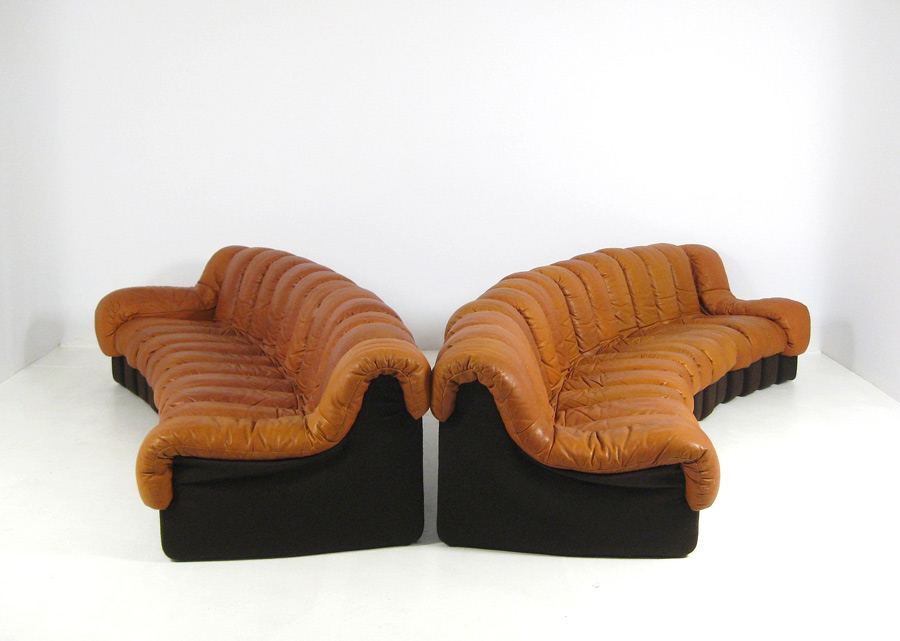 canape ds 600 cognac de sede 1972 the good old dayz. Black Bedroom Furniture Sets. Home Design Ideas