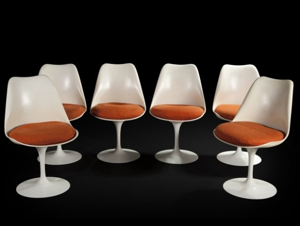 chaises tulipe par eero saarinen knoll 1957 the good. Black Bedroom Furniture Sets. Home Design Ideas
