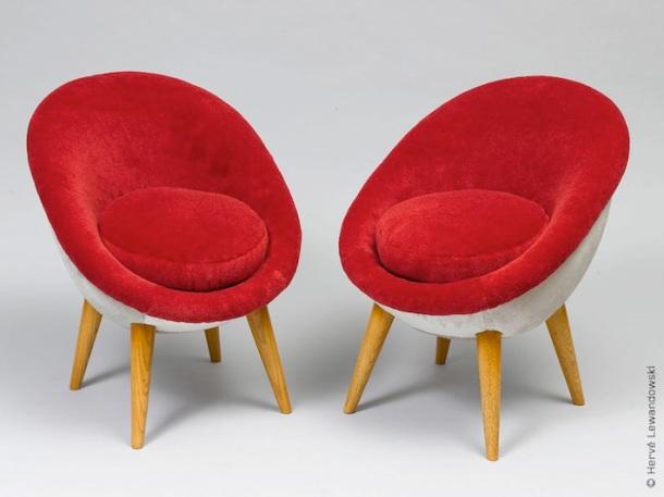 fauteuil croisillon jean royere 1953