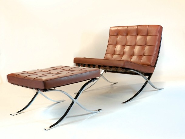 barcelona chair par mies van der rohe knoll 1929 the good old dayz. Black Bedroom Furniture Sets. Home Design Ideas