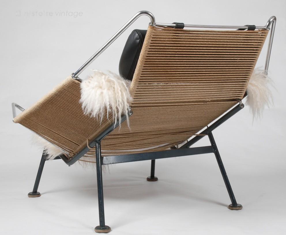 fauteuil flag halyard par hans j wegner getama 1950. Black Bedroom Furniture Sets. Home Design Ideas