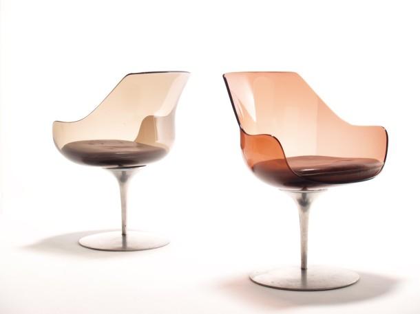 chaises champagne par estelle et erwin laverne formes nouvelles 1957 the good old dayz. Black Bedroom Furniture Sets. Home Design Ideas