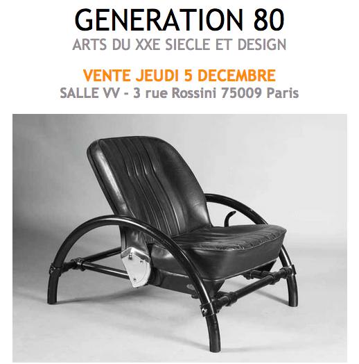VENTE GENERATION 80 SALLE VV DROUOT