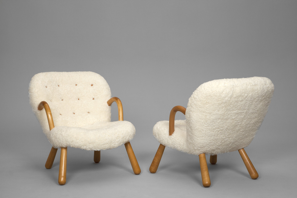 fauteuils en peau de mouton par philip arctander 1944 the good old dayz. Black Bedroom Furniture Sets. Home Design Ideas