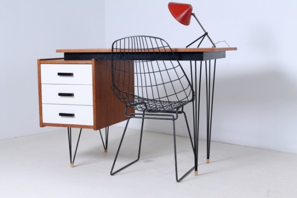 pastoe-desk-white-drawers-teak-hairpin-wire-legs-braakman-fifties-design-dutch-21