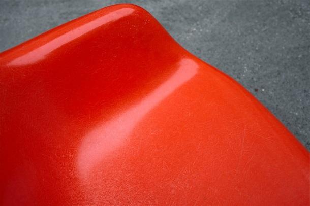 rocking chair rar eames herman miller orange 3