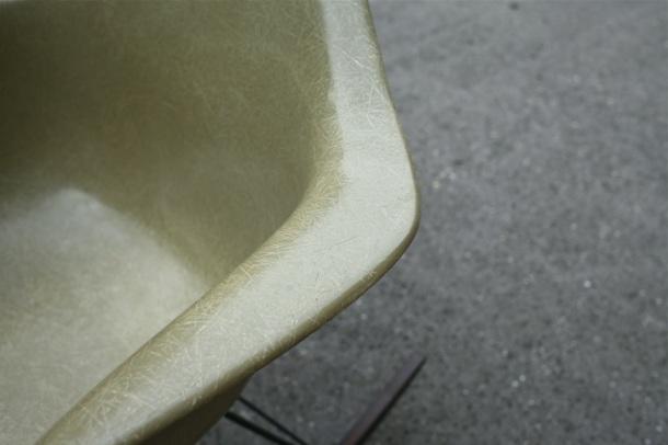 rocking chair rar eames herman miller raw amber 3