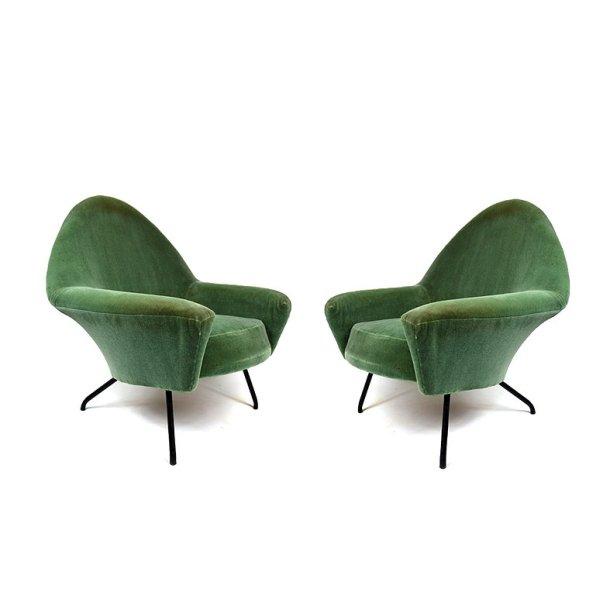 paire fauteuils 770 joseph-andré motte steiner 1960