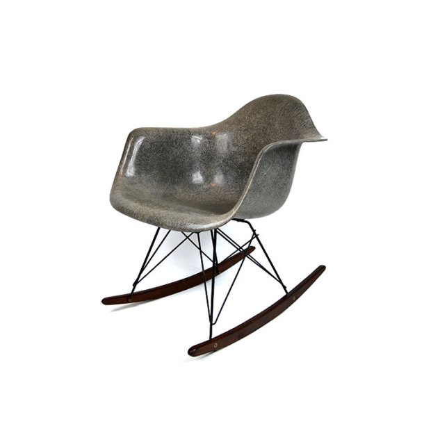 rocking chair elephant grey eames 1950