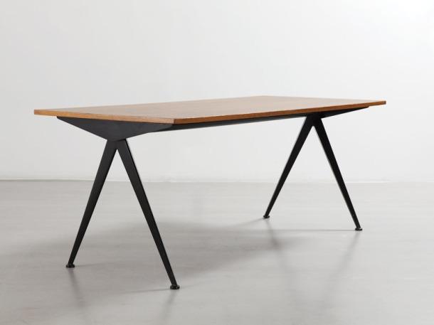 TABLE DE CAFETERIA N° 512 PAR JEAN PROUVE - 1953 1