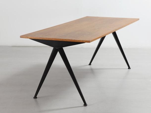 TABLE DE CAFETERIA N° 512 PAR JEAN PROUVE - 1953 2