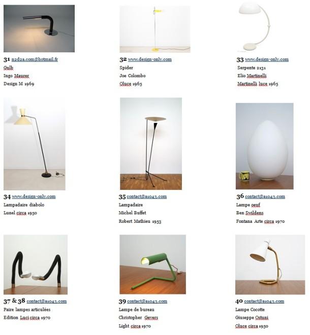 expo vente 50 luminaires de 1950 à 1980 the good old dayz ligne roset reaumur 9