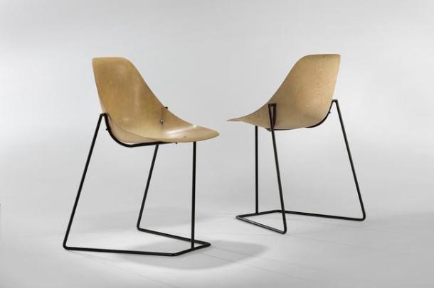 chaises coccinelle par rene jean caillette - steiner 1957