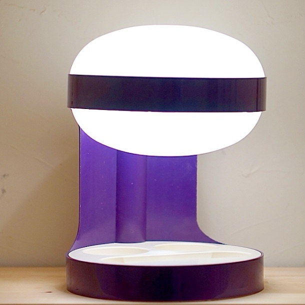 LAMPE KD29 PURPLE JOE COLOMBO KARTELL 1