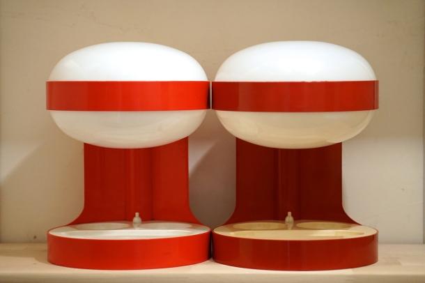PAIRE LAMPE KD29 ROUGES JOE COLOMBO KARTELL