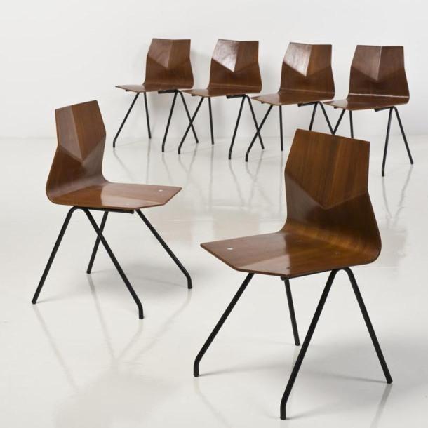 chaise diamant renè-jean caillette steiner 1959