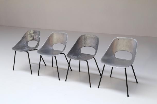 pierre-guariche-steiner-rare-chaises tonneau