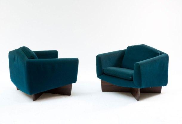 fauteuils de genevieve dangles et christian defrance burov 1960