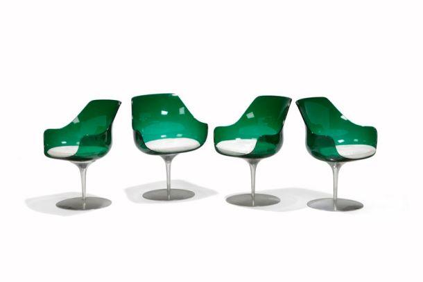 chaises champagne Laverne édition Formes Nouvelles 1970