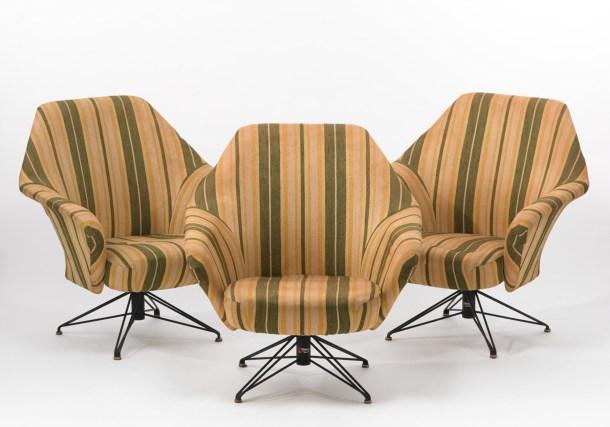 fauteuils P32 osvaldo borsani tecno 1956