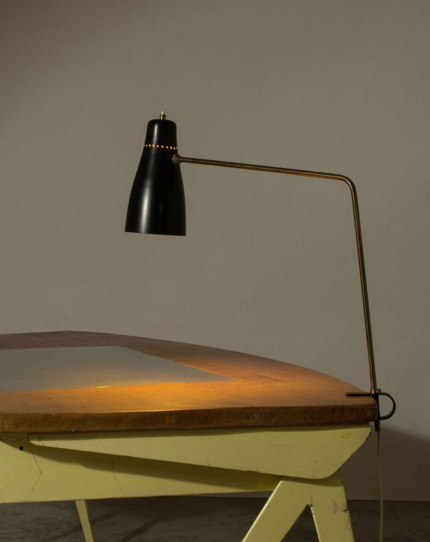 LAMPE AGRAFE G5 PAR PIERRE GUARICHE - DISDEROT 1950