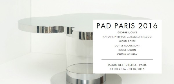 GALERIE JOUSSE PAD PARIS 2016