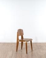 Chaise tout bois démontable Jean Prouvé