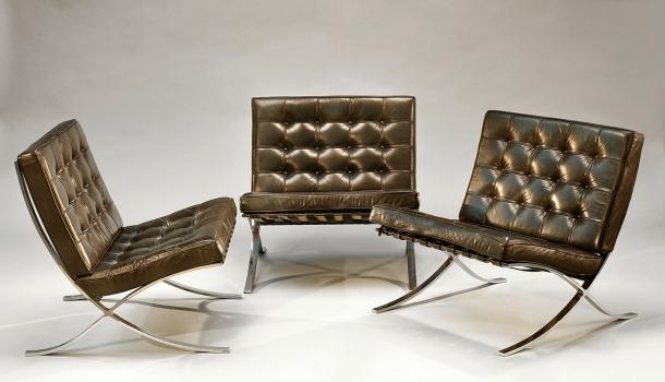 7. Chauffeuse barcelona - Mies van Der Rohe - Knoll 1929