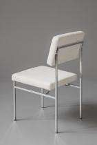 PHILIPPON LECOQ chaise P60-CHr tissu BL-3 - copie