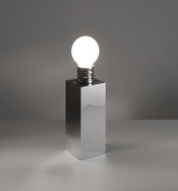 lampe_bulbe_laiton_chrome_Michel_Boyer