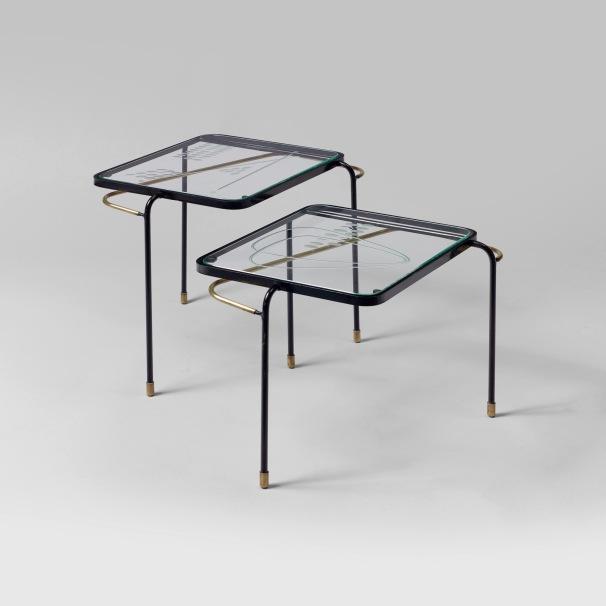 Tables gigognes Mathieu Matégot 1956 - Galerie Matthieu Richard